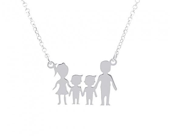 """Image of """"""""Parents & Two Sons"""" - Colier din argint"""""""