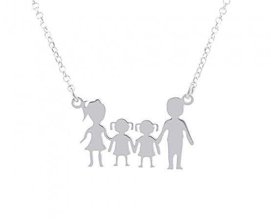 "Image of """"Parents & Two Daughters"" - Colier din argint"""