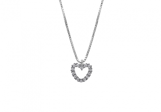 "Image of """"Lucky Heart"" silver necklace"""