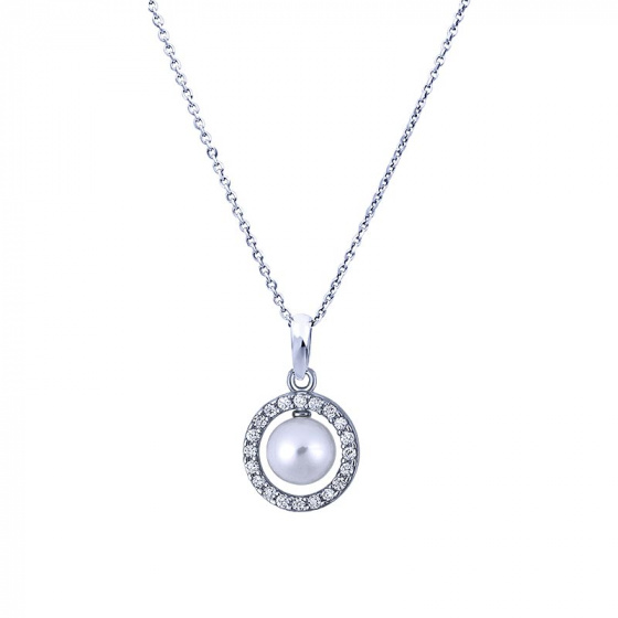 "Image of """"Countess"" silver necklace"""