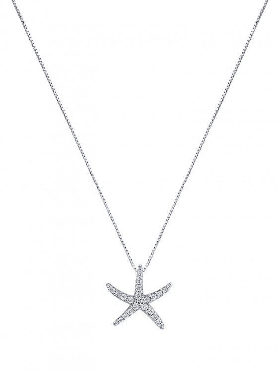 """Image of """"""""Asterias #1"""" silver necklace"""""""