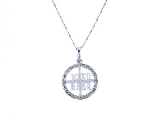 """Image of """"""""Constantinato #5"""" silver pendant """""""