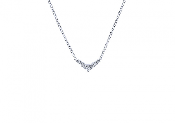 """Image of """"""""Victorious"""" silver necklace """""""