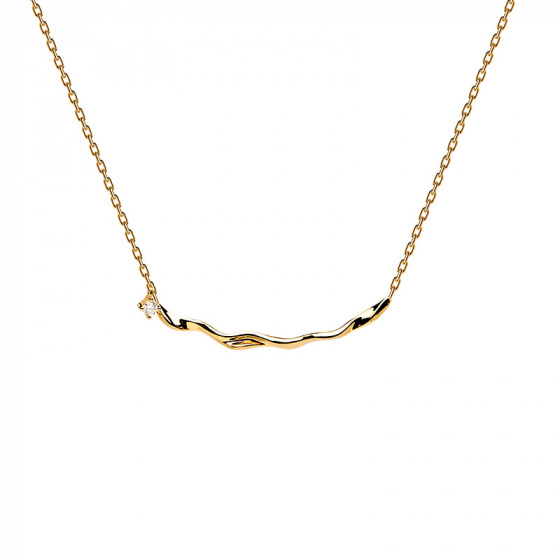 "Image of ""PDPAOLA ""Haru"" silver necklace gold plated"""