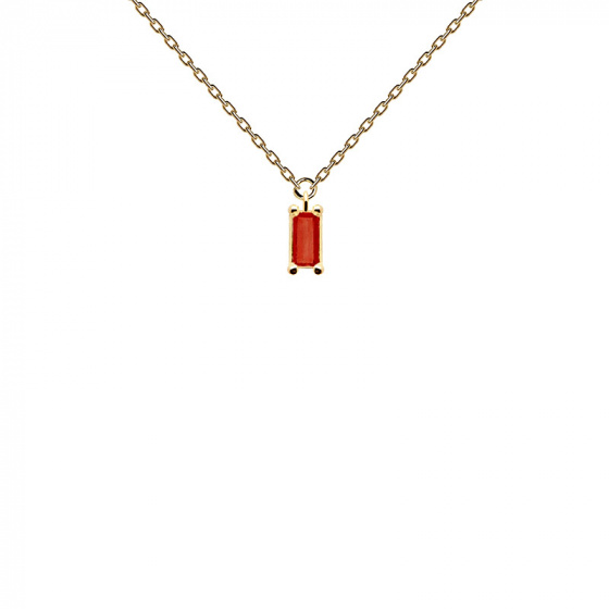 "Image of ""PDPAOLA ""Cherry Asana"" silver necklace gold plated"""