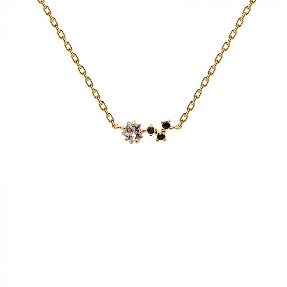 "Image of ""PDPAOLA ""Voyager"" silver necklace gold plated"""