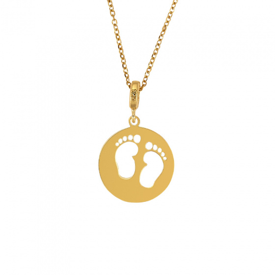 "Image of ""Silver pendant with children's toes"""