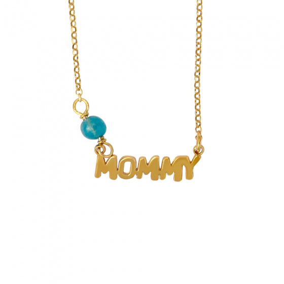 """Image of """"""""Mommy"""" necklace, silver 925 goldplated"""""""