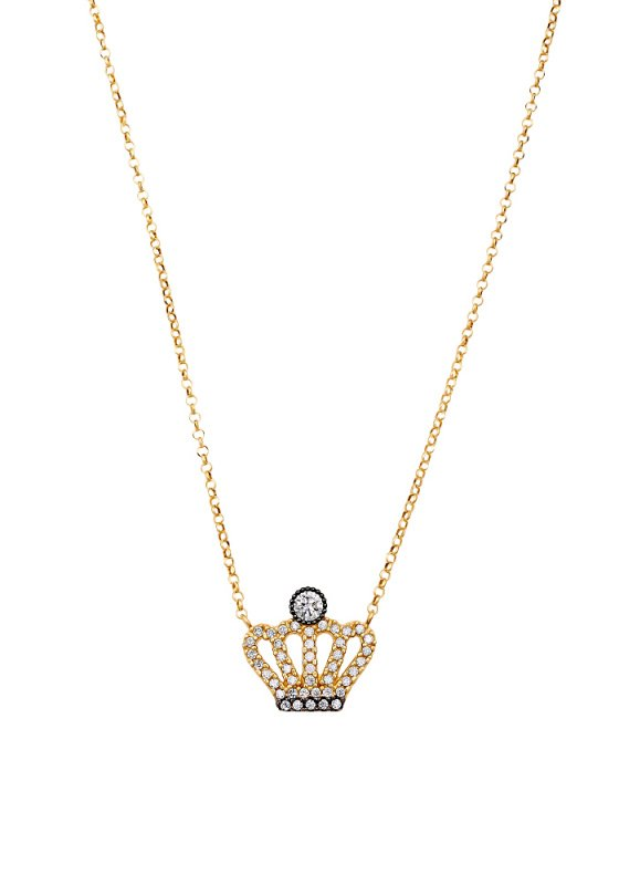 "Image of """"Your Highness"" silver necklace gold plated"""