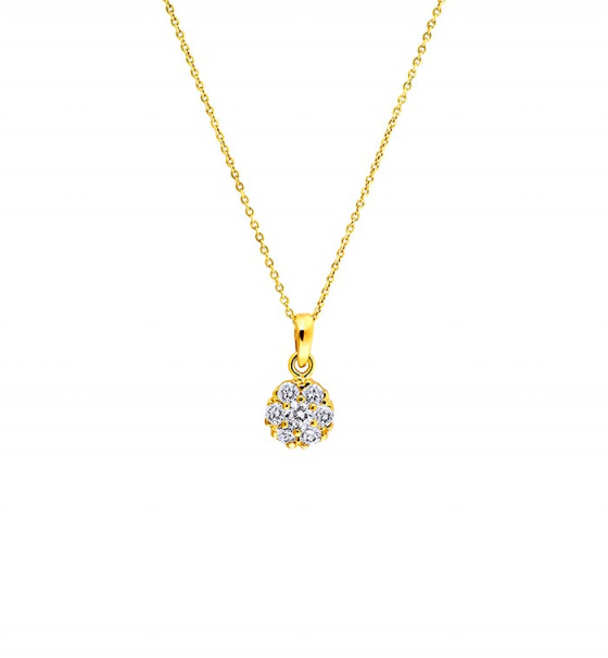 "Image of """"Splendid"" silver necklace gold plated"""