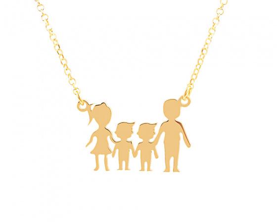 """Image of """"""""Parents & Two Sons"""" - Colier din argint placat cu aur"""""""