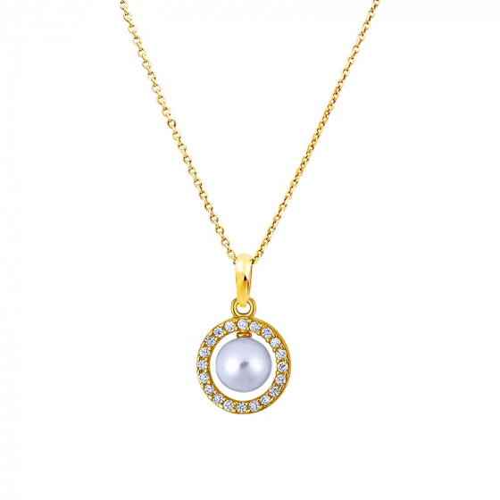"Image of """"Countess"" silver necklace gold plated"""