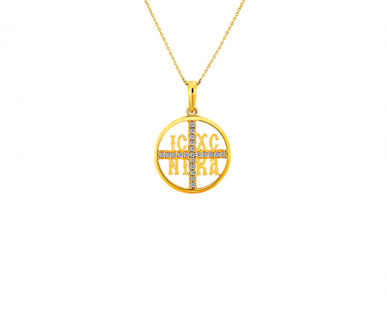 """Image of """"""""Constantinato #4"""" silver pendant gold plated """""""