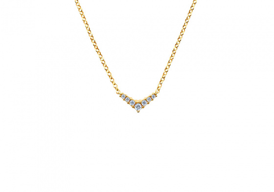 """Image of """"""""Victorious"""" silver necklace gold plated """""""