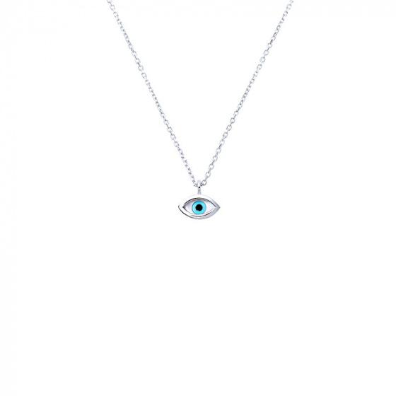 """Image of """"""""Tiny Eye"""" white gold necklace K14"""""""