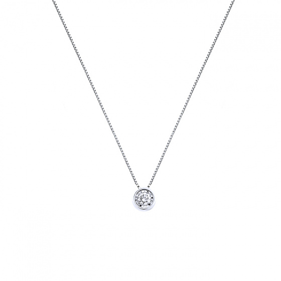 "Image of ""White gold necklace K14 with diamond, IGP11330"""