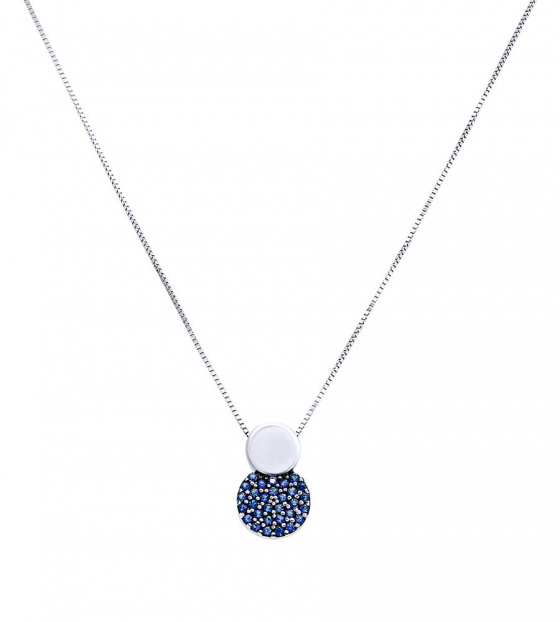 "Image of """"Blue Planet"" white gold K14 necklace"""
