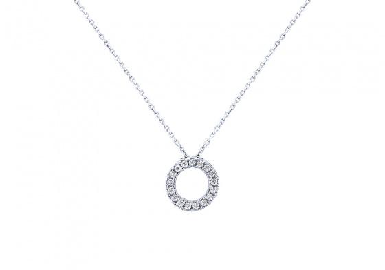 """Image of """"""""Ravishing"""" white gold necklace K14"""""""