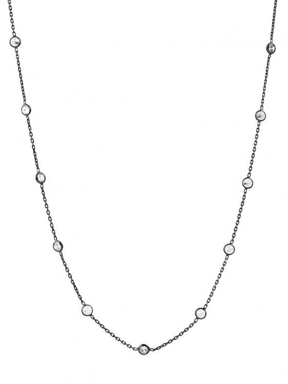 """Image of """"""""Mistress of the Sky"""" silver necklace black rhodium plated 95cm"""""""