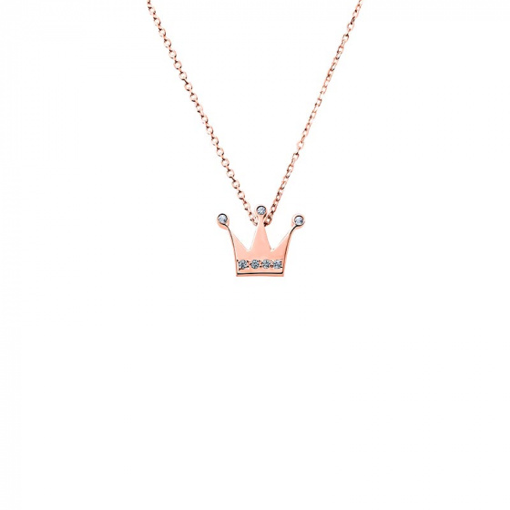 "Image of """"Tiny Crown"" rose gold necklace K14"""