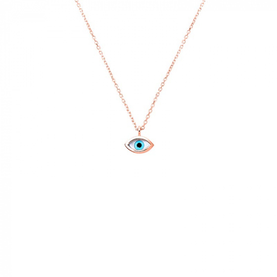 "Image of """"Tiny Eye"" rose gold necklace K14"""