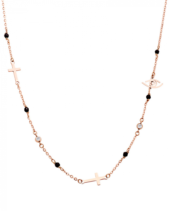 "Image of """"Divine Protector"" rose gold necklace K14"""