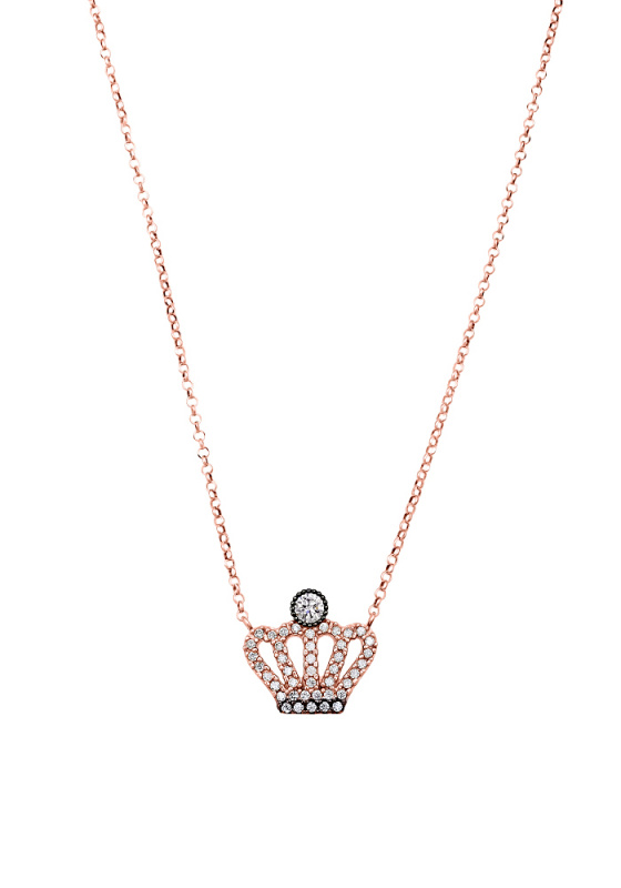 "Image of """"Your Highness"" rose gold necklace K14"""