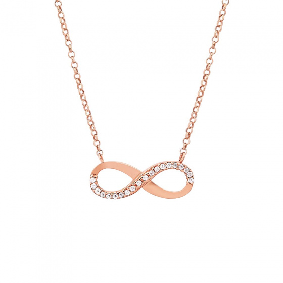 "Image of """"Infinity"" rose gold necklace Κ14"""