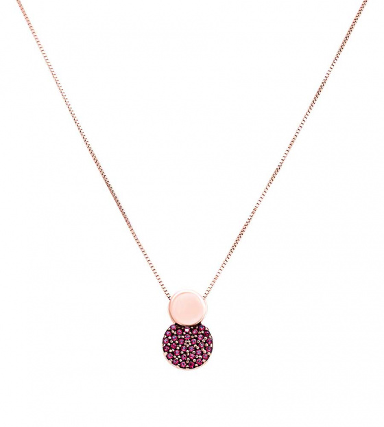 "Image of """"Red Planet"" rose gold necklace K14"""