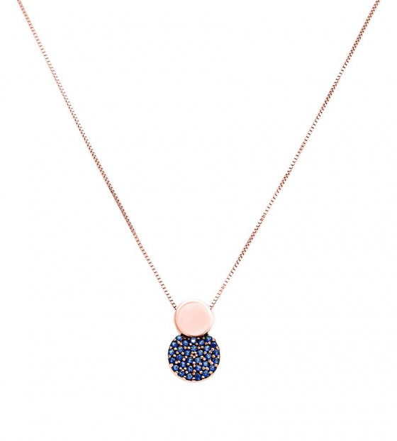 "Image of """"Blue Planet"" rose gold K14 necklace"""