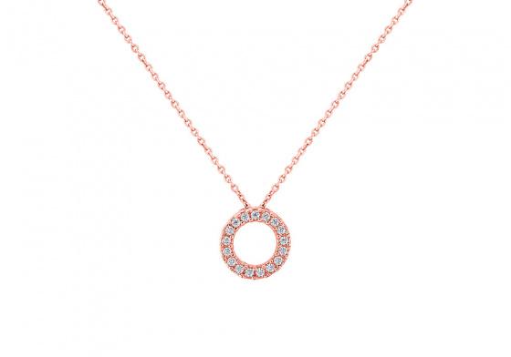 """Image of """"""""Ravishing"""" rose gold necklace K14"""""""