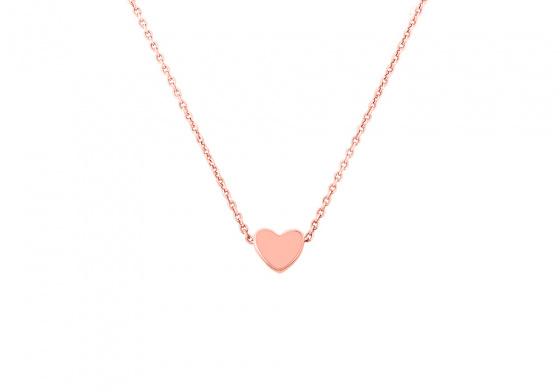 "Image of """"Festive Heart"" rose gold necklace K14"""