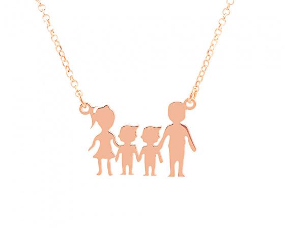 """Image of """"""""Parents & Two Sons"""" - Colier din argint placat cu aur roz"""""""