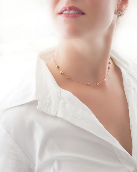 """Image of """"""""Three Graces"""" silver necklace rose gold plated"""""""