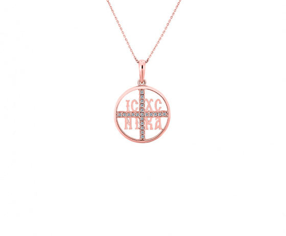 """Image of """"""""Constantinato #4"""" silver pendant rose gold plated """""""