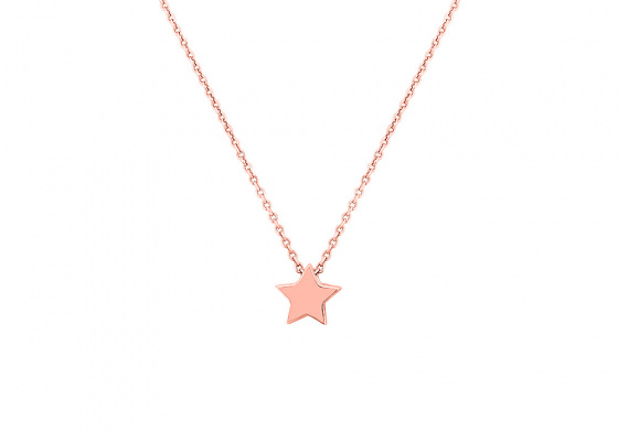 """Image of """" """"Festive Star"""" silver necklace rose gold plated"""""""