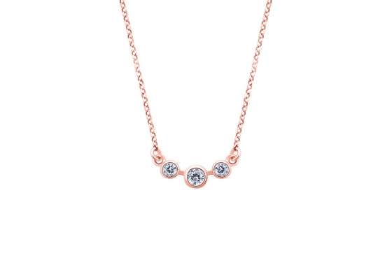 """Image of """"""""Reflection #1"""" silver necklace rose gold plated"""""""