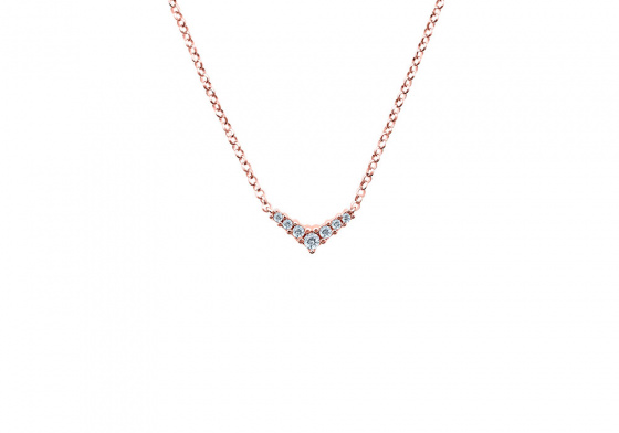 """Image of """"""""Victorious"""" silver necklace rose gold plated """""""