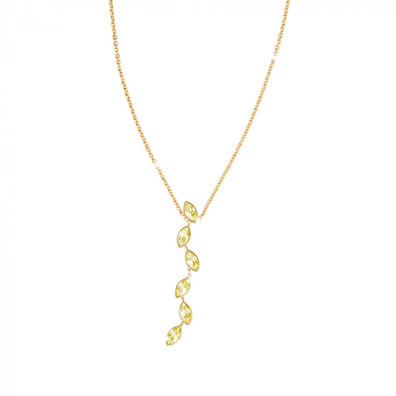"Image of ""REBECCA Lumière necklace in gold stainless steel, BLMKOO03"""