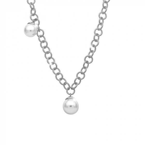 """Image of """"REBECCA Malibu necklace in silver stainless steel, BMBKBB03"""""""