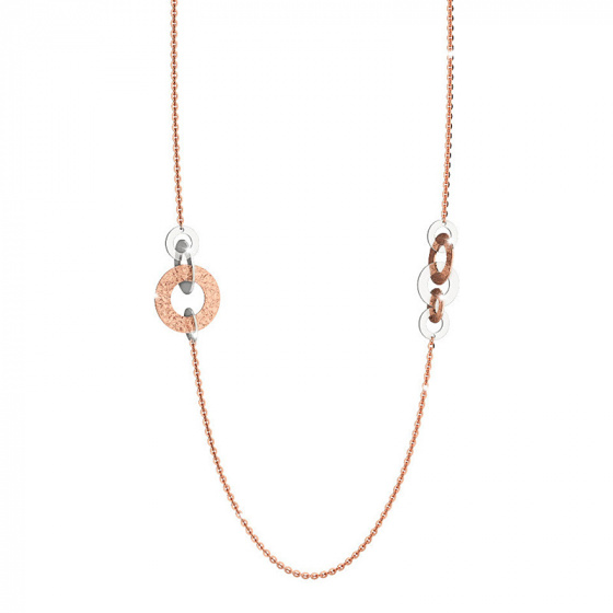 "Image of ""REBECCA R-Zero necklace in rose gold stainless steel, BRZKXR08"""