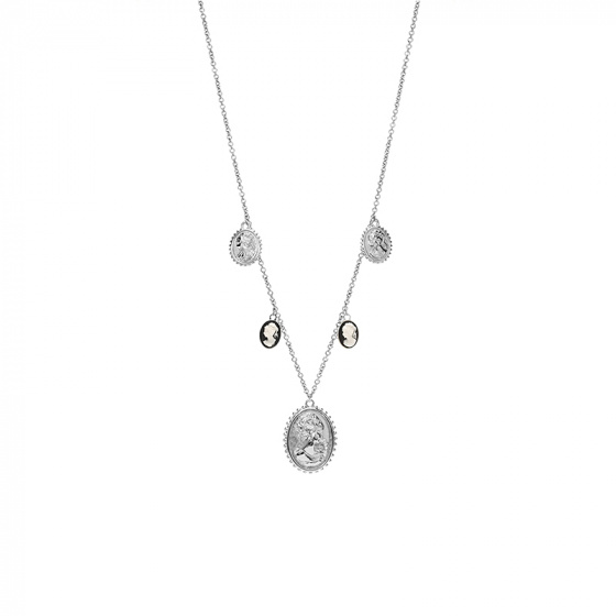 "Image of ""REBECCA Madama necklace in silver stainless steel, BMMKBB18"""