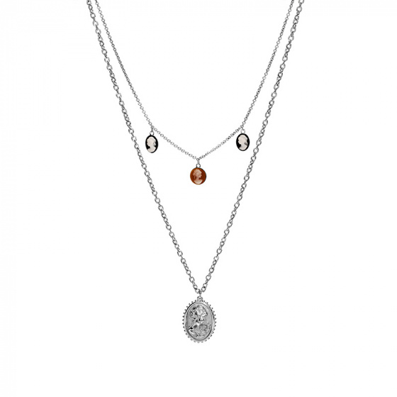 """Image of """"REBECCA Madama necklace in silver stainless steel, BMMKBB04"""""""