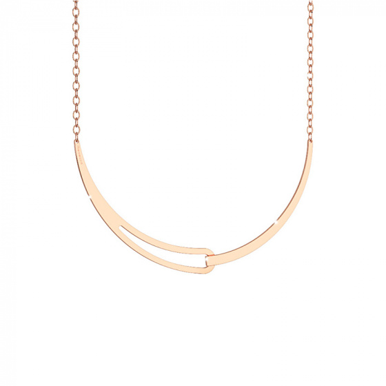 "Image of ""REBECCA Iconic necklace in rose gold stainless steel, BICKBR03"""
