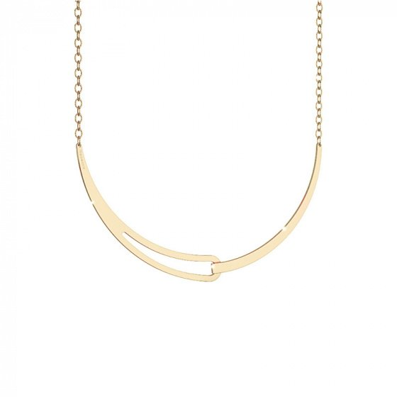 "Image of ""REBECCA Iconic necklace in gold stainless steel, BICKBO03"""