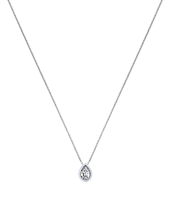 """Image of """"""""Lonely Tear #1"""" white gold necklace K9"""""""