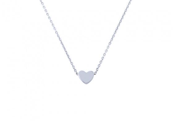 "Image of """"Festive Heart"" white gold necklace K9"""