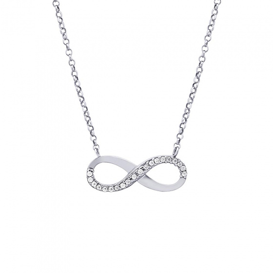 """Image of """"""""Infinity"""" white gold K9 necklace"""""""