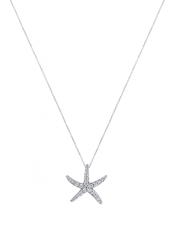 """Image of """"""""Asterias #1"""" white gold K9 necklace"""""""
