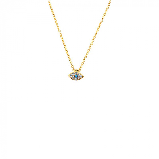 "Image of """"Tiny Glow"" gold necklace K14"""